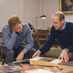 Prince William and Harry look at Princess Dianas family album Photo C ITV