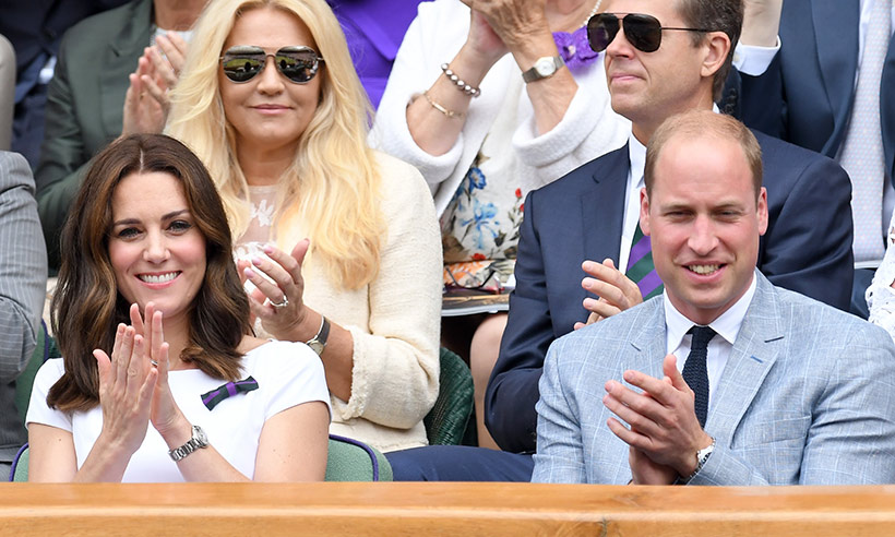 Prince William and Kate attend the Wimbledon men's final Photo (C) GETTY IMAGES