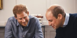 Prince William and Prince Harry look at Princess Diana photos on ITV documentary Photo (C) ITV