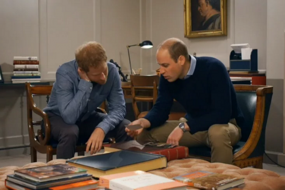 Prince William and Prince Harry remember their mother in the new film (ITV)