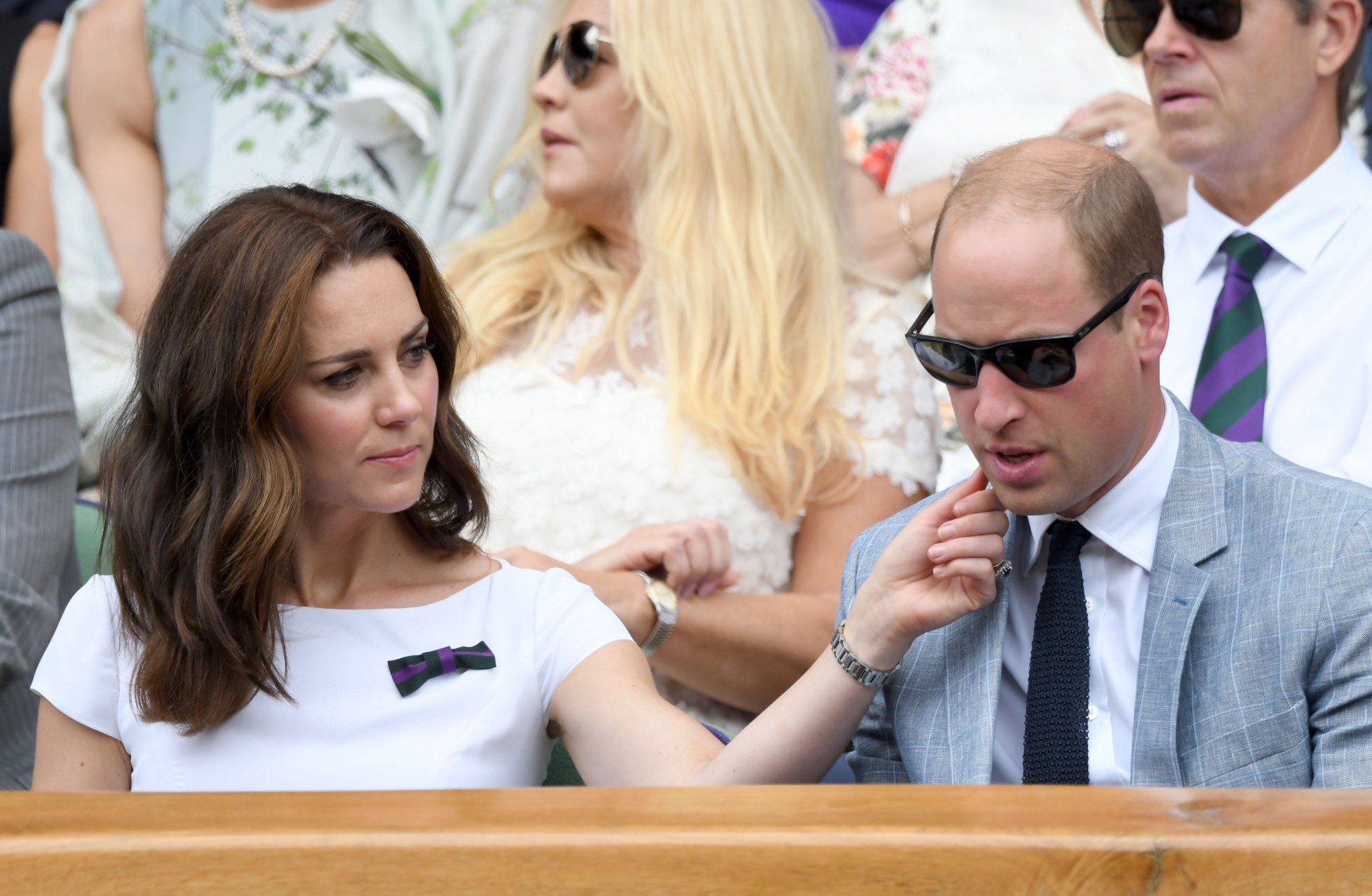 Prince William and Princess Kate carved out some together time on Sunday Photo (C) KARWAI TNAG, WIREIMAGE