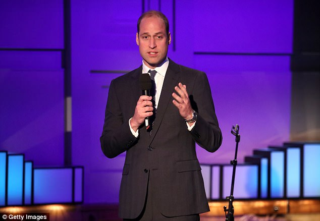 Prince William (pictured yesterday) has spoken of the moment he was woken up to be told his mother had died in a car crash 20 years ago, saying The shock never leaves you Photo (C) GETTY IMAGES
