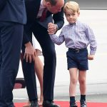 Prince William was seen leaning down to say a few words to his son who looked a little overwhelmed by the occasion