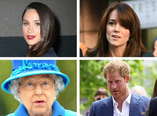 Queen Elizabeth And Kate Middleton Upset With Meghan Markle And Prince Harry's Photo (C) GETTY IMAGES