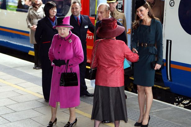 Queen Elizabeth and Duchess of Cambridge Image (C) Getty Images