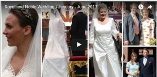 Royal and Noble Weddings January June 2017