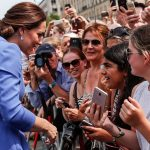 Royal fans had their cameras at the ready eager to get a snap of the Duchess of Cambridge