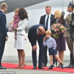 Shes a natural Charming Prince Charlotte needed no encouragement to shake hands in the line up but her brother wasnt so sure