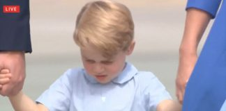 Shy Prince George who turns four on Saturday is naturally still finding his feet when it comes to public appearances