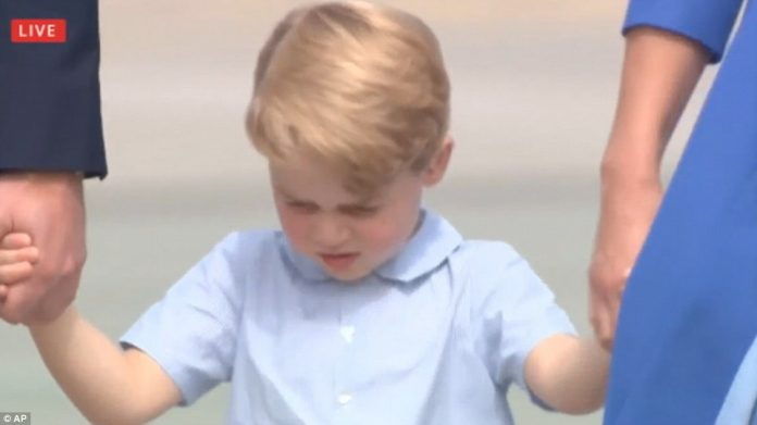 Shy Prince George, who turns four on Saturday, is naturally still finding his feet when it comes to public appearances