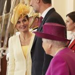 Standing at 6ft 6in the Spanish monarch dwarfed the 91 year old Queen who stands at just 5ft 4in