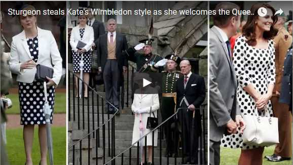 Sturgeon steals Kates Wimbledon style as she welcomes the Queen to Edinburgh