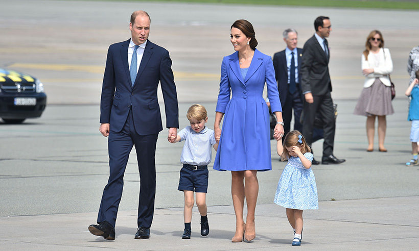 The Cambridges wave goodbye to Poland as they jet off to Berlin Photo (C) GETTY IMAGES