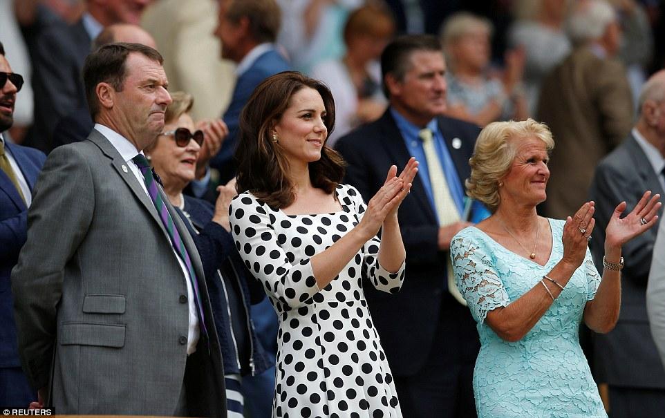 Duchess of Cambridge meets ball boys