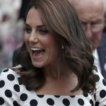 The Duchess is famed for her flowing brunette locks but has switched things up with a shoulder length lob.