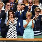 The Duchess of Cambridge couldnt contain her delight as she applauded Andy Murray for his straight sets victory over Alexander Bublik on the opening day of Wimbledon