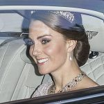 The Duchess of Cambridge stunned in the diamond and pearl Cambridge Lovers Knot tiara so beloved by Williams late mother