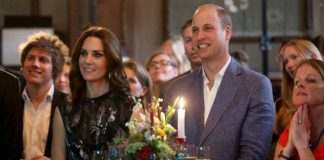 The Duchess wore a bird print dress from Markus Lupfer Photo C GETTY IMAGES