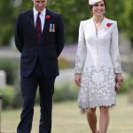 The Duke and Duchess of Cambridge visiting Commonwealth War Graves Commission Cemetery Bedford House on the outskirts of Ypres Belgium