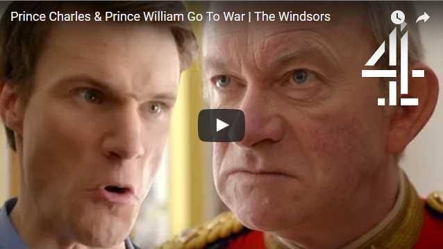 The Duke finds The Windsors absolutely hilarious