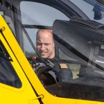 The Duke of Cambridge on his final shift with the East Anglian Air Ambulance on July 27