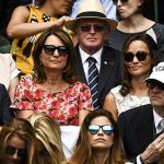 The Middleton family at Wimbledon on Sunday Photo C GETTY IMAGES