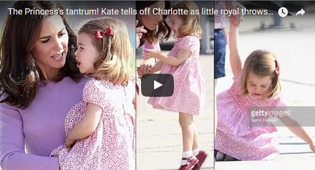 The Princesss tantrum Kate tells off Charlotte as little royal throws strop in Hamburg