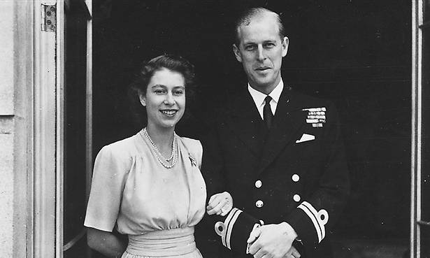Princess Elizabeth and Philip Mountbatten pictured on the day they announced their engagement Photo C GETTY IMAGES