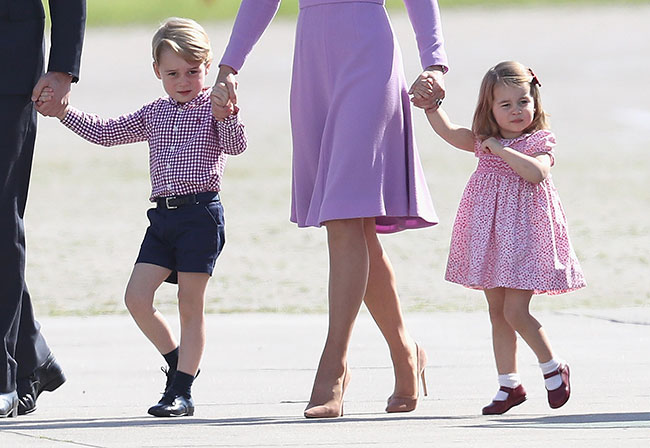 The adorable youngsters have been stealing the show throughout the royal tour Photo (C) GETTY IMAGES