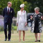 The couple were given a guided tour by Victoria Wallace Director General of the Commonwealth War Graves Commission head of a ceremony with the Belgian royals