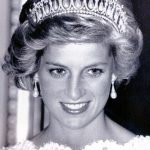 The diamond and pearl tiara was a wedding gift to the Duke of Cambridges late mother Diana and was one of her favourites