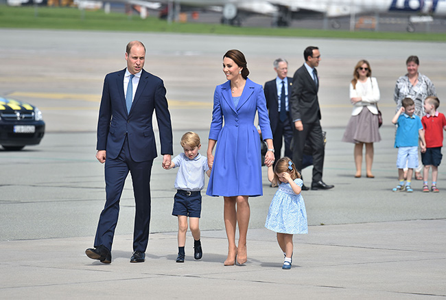The family are travelling to Germany for the second part of their royal tour Photo (C) GETTY IMAGES