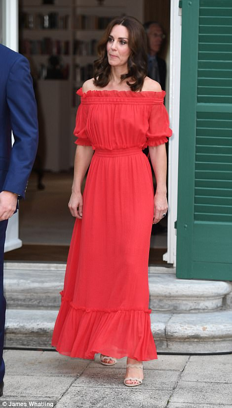 The glamorous royal, who has been dazzling in a series of bespoke frocks this week, opted for a bargain from Alexander McQueen