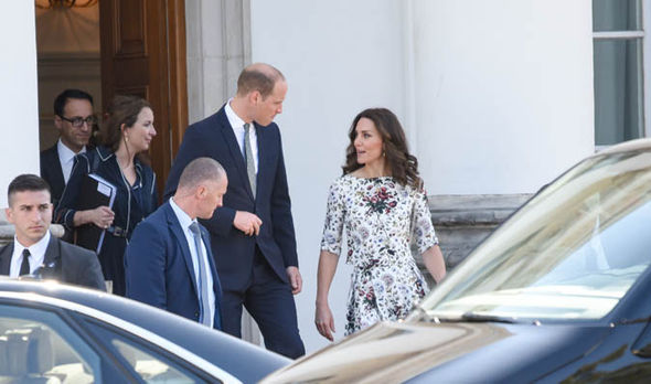 Kate and William met with survivors at a Nazi concentration camp in Poland today Photo C SWNS