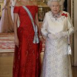 The two monarchs dressed to impress at the event which saw hundreds of dignitaries and royals gather to welcome the Spanish royal family