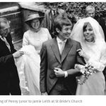 The wedding of Penny Junor to Jamie Leith at St Brides Church