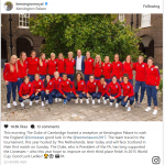 This morning The Duke of Cambridge hosted a reception at Kensington Palace to wish the England Photo C INTAGRAM