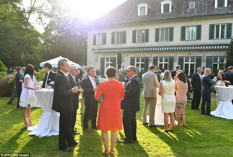 Tonights garden party was held at the picturesque British Ambassadors residence tonights function is an annual event held every year in the German capital in honour of the Queens birthday