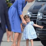 Two year old Charlotte easily stole the show pausing to point out the sights to her mother and toddling along towards the red carpet on her tiptoes