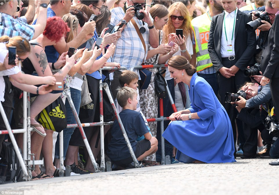 New friendship Its the first time the Duchess has met the German head of state but William spent time with her on an official visit to Dusseldorf last year