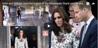 Video Catherine Duchess of Cambridge and Prince William face the horror of the Holocaust Royal couple visit concentration camp