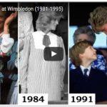 Video Princess Diana at Wimbledon 1981 1995