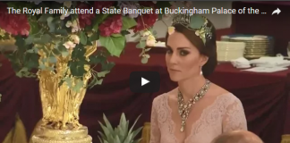 Watch Video Catherine Duchess of Cambridge stuns in one of Princess Dianas favorite tiaras