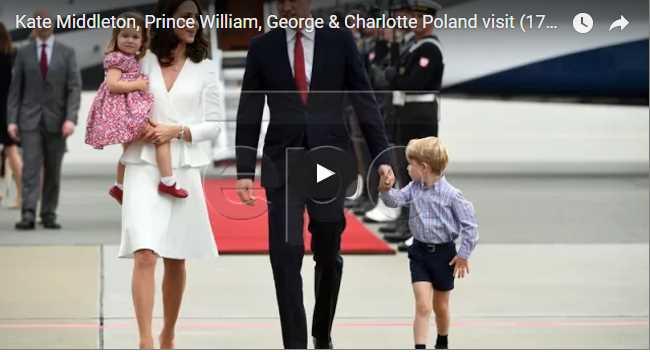 Watch Video Kate Middleton Prince William George Charlotte Poland visit