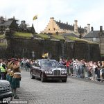 Well wishers lined the streets as the royal couple arrived in Stirling