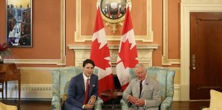When Charles met the premier Mr Trudeau apologised for the weather and the prince replied, saying It's unbelievable