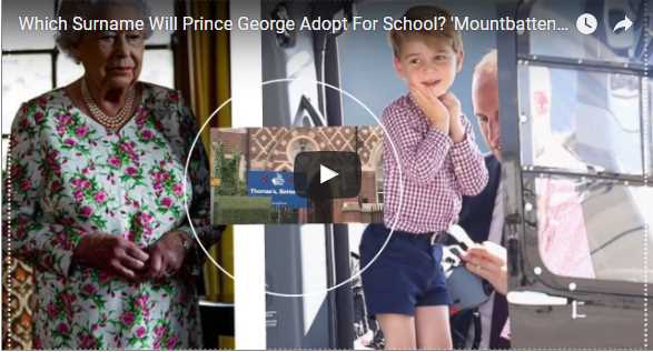 Which Surname Will Prince George Adopt For School