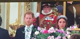 While its understood to be Prince Philips last ever state banquet before he retires this Autumn it was Prince Harrys first as he moves into a more full time royal position.