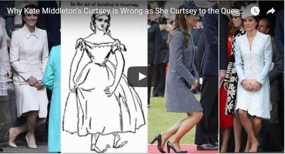 Why Kate Middletons Curtsey is Wrong as She Curtsey to the Queen on Easter