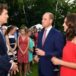 William and Kate speak to General Secretary of DFB Friedrich Curtius